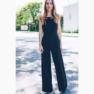 Express Strappy Jumpsuit Wide Leg High Neck 0